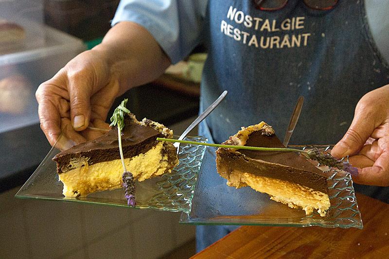 Cake at Nostalgie Restaurant Oudtshoorn