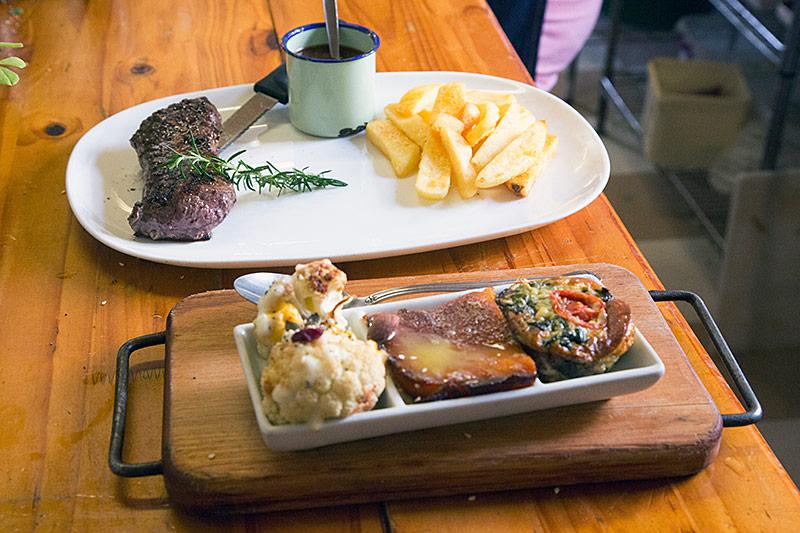 Ostrich at Nostalgie Restaurant Oudtshoorn