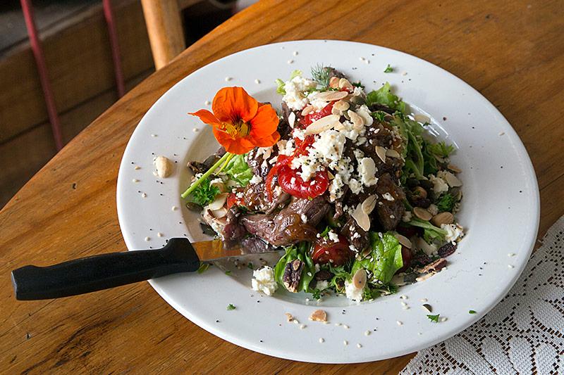 Salads at Nostalgie Restaurant Oudtshoorn